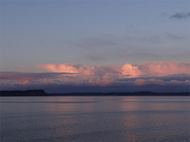 Storm clouds over Whidbey Island (Photo: Skunkbayweather.com)