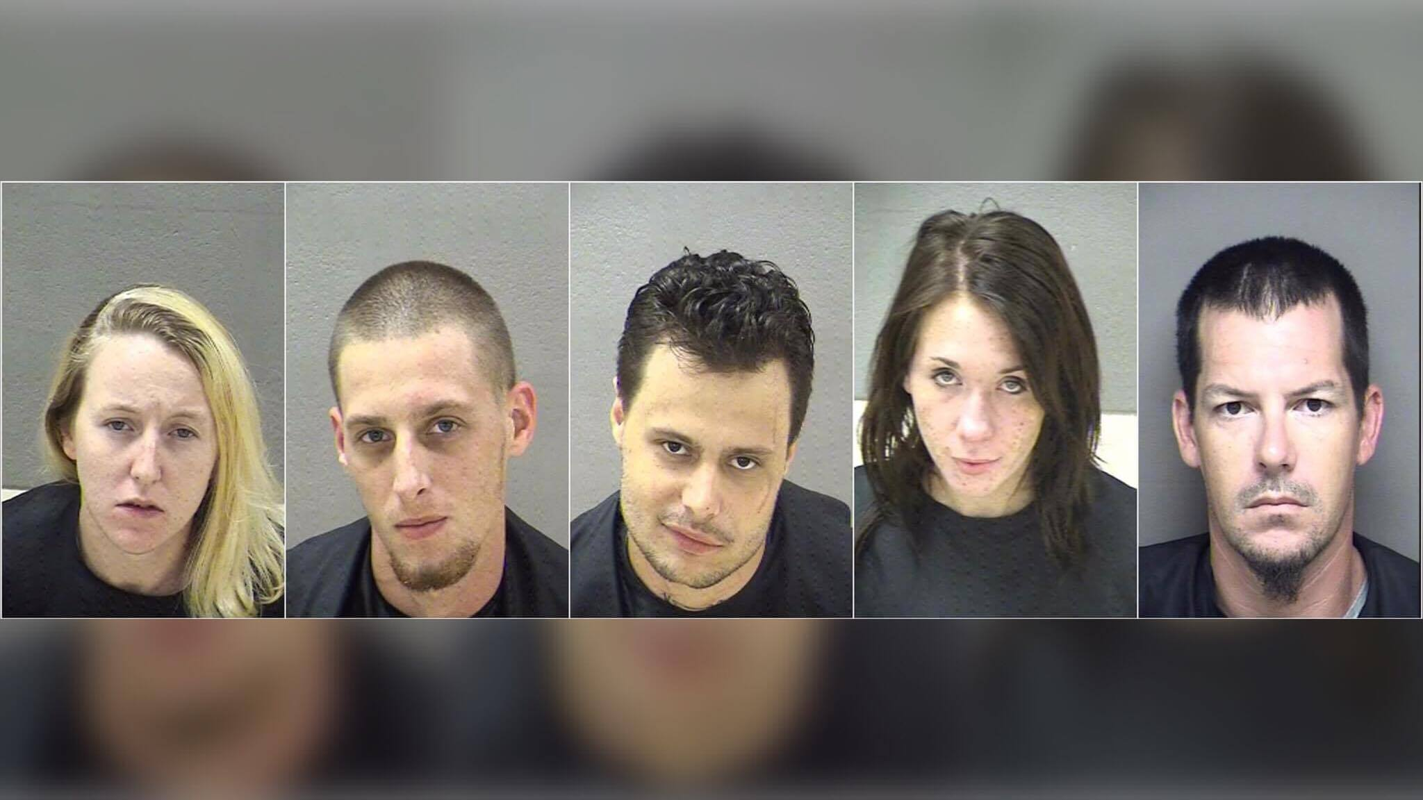 The Lynchburg Police Department said five people were arrested at a hotel in Lynchburg Monday morning (Photos: Blue Ridge Regional Jail)