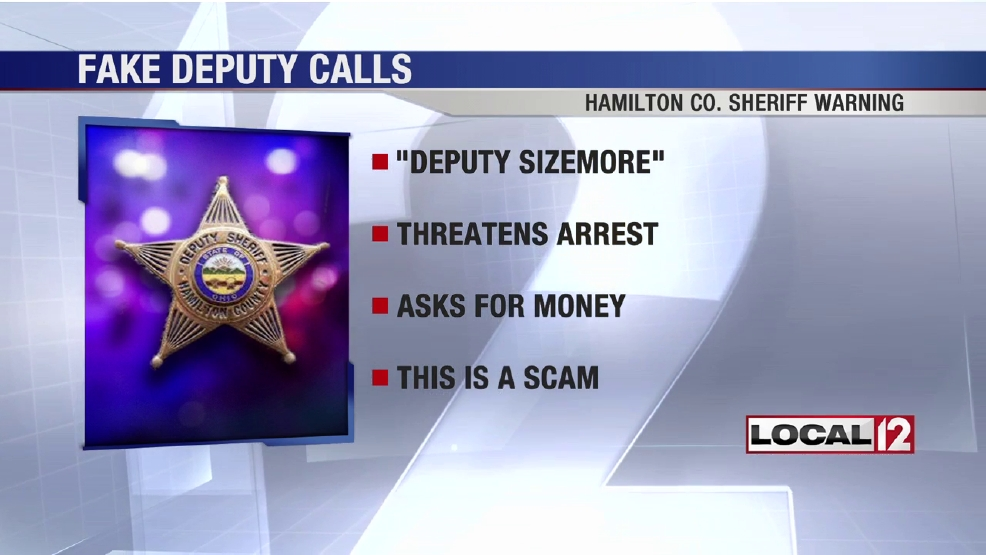 Hamilton County sheriff warns of phone scam from fake deputy