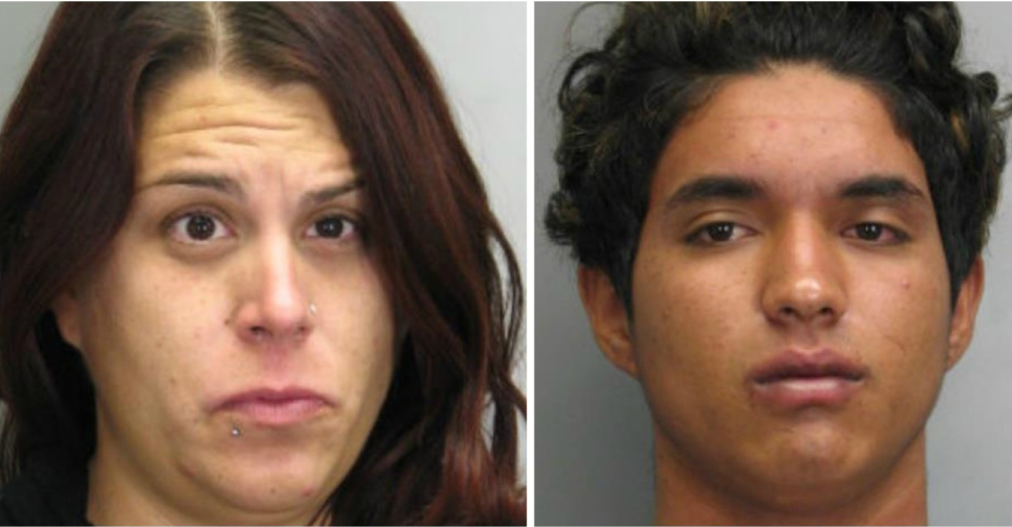 A Fairfax County Public Schools teacher and a student from her school have been arrested, after the teacher distracted a gas station cashier while the male student stole beer, according to Fairfax County Police. (Fairfax County Police Department)