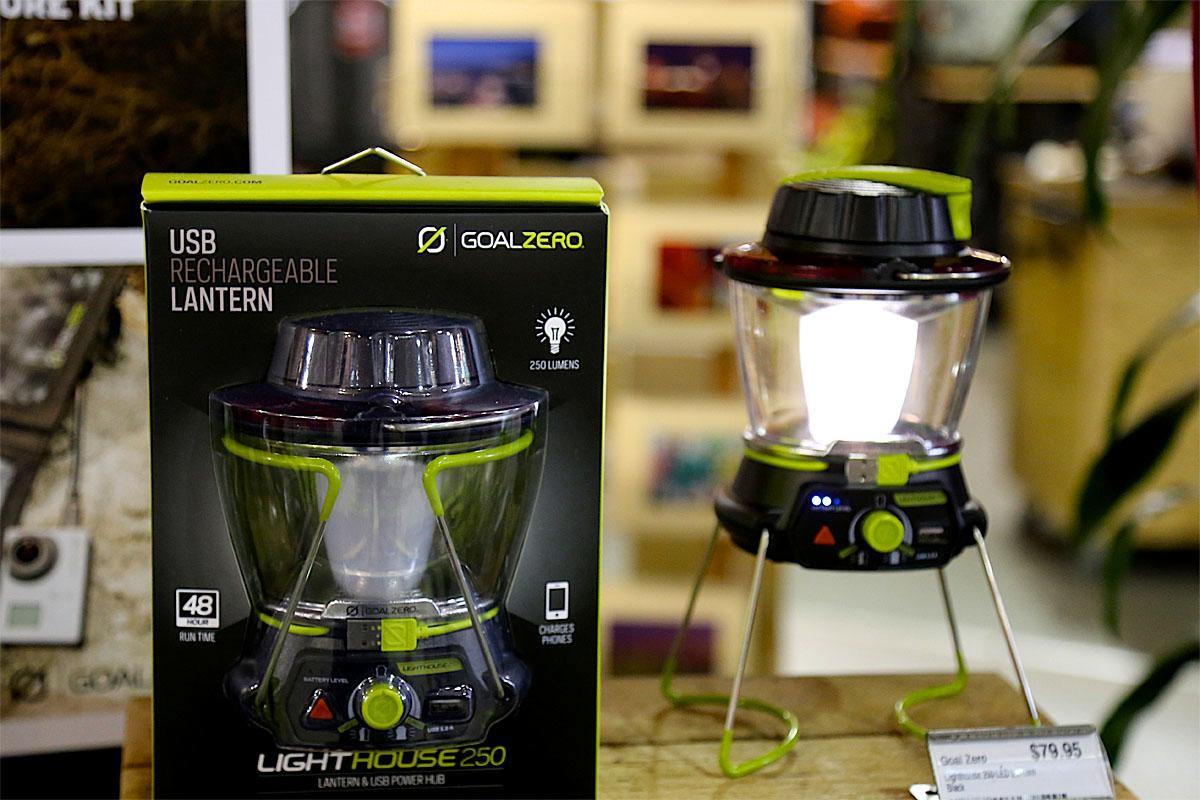 This LED lantern is great for camping and when you get home, put it in your emergency kit. It can also be used to recharge USB devices! (Image: Kristi Waite/Seattle Refined)