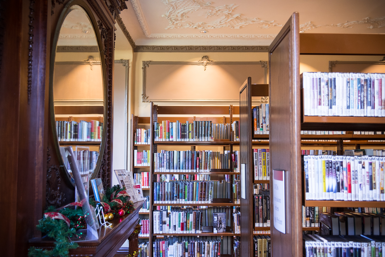 "The Clifton Branch of the Cincinnati Public Library is located inside the renovated historic house of legendary local politician George Barnesdale ""Boss"" Cox. It was designed by renowned architect Samuel Hannaford. ADDRESS: 3400 Brookline Ave, Cincinnati, OH 45220 / Image: Phil Armstrong, Cincinnati Refined // Published: 12.28.16"