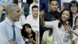 Obama uses light moment with rapper to espouse free speech
