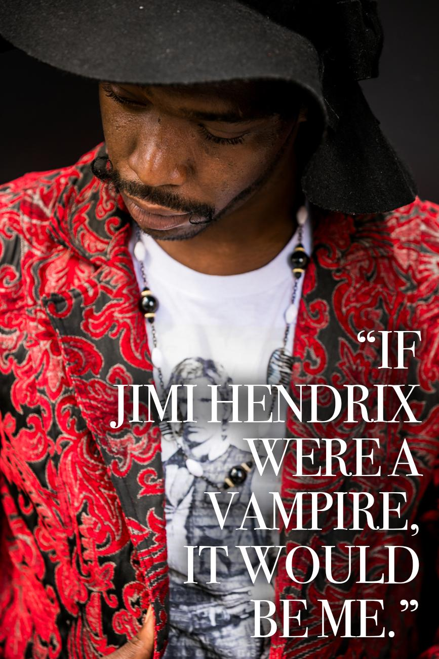 "Cincy Refined:{ }Who are your style inspirations? / Jermey White: ""Jimi Hendrix. If Jimi Hendrix were a vampire, it would be me."" / Image: Amy Elisabeth Spasoff // Published: 9.5.18"