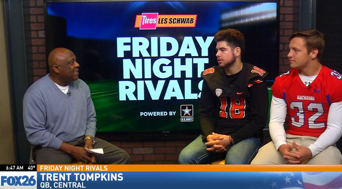 Central High quarterback Trent Tompkins talking about the Grizzlies keys to the game