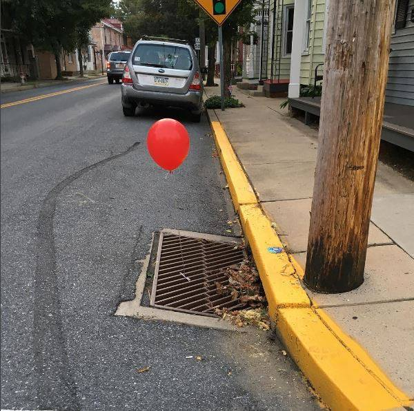 Police officers in a small Pennsylvania town are evidently afraid of a certain homicidal clown. (Lititz Borough Police Department)