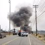 Semi truck carrying onions catches fire near Port of Tacoma
