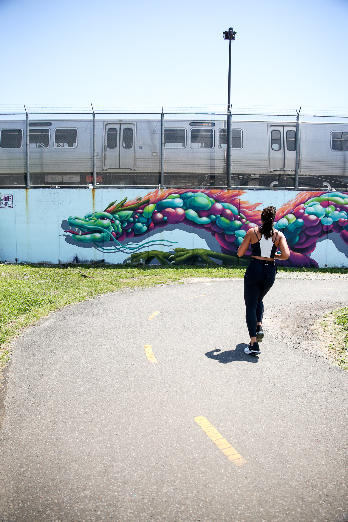 Some of the existing murals on the Metropolitan Branch Trail will remain up. (Amanda Andrade-Rhoades/DC Refined)