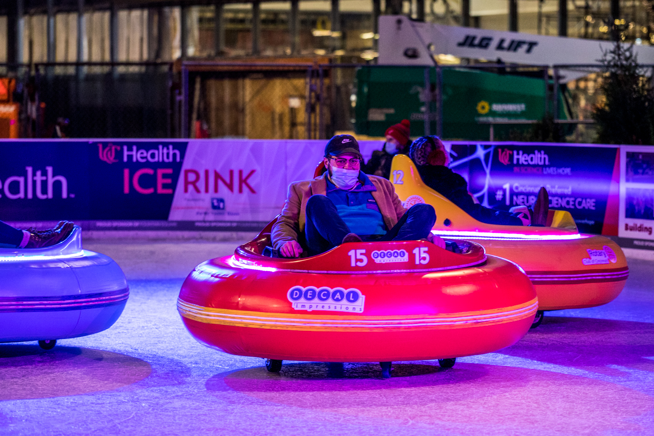 Bumper car riders must be over five years old, at least 42 inches tall, and under 300 lbs. They also must wear flat, closed-toe shoes. / Image: Catherine Viox // Published: 12.20.20