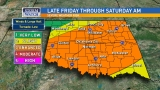 Severe weather possible Friday evening into Saturday morning
