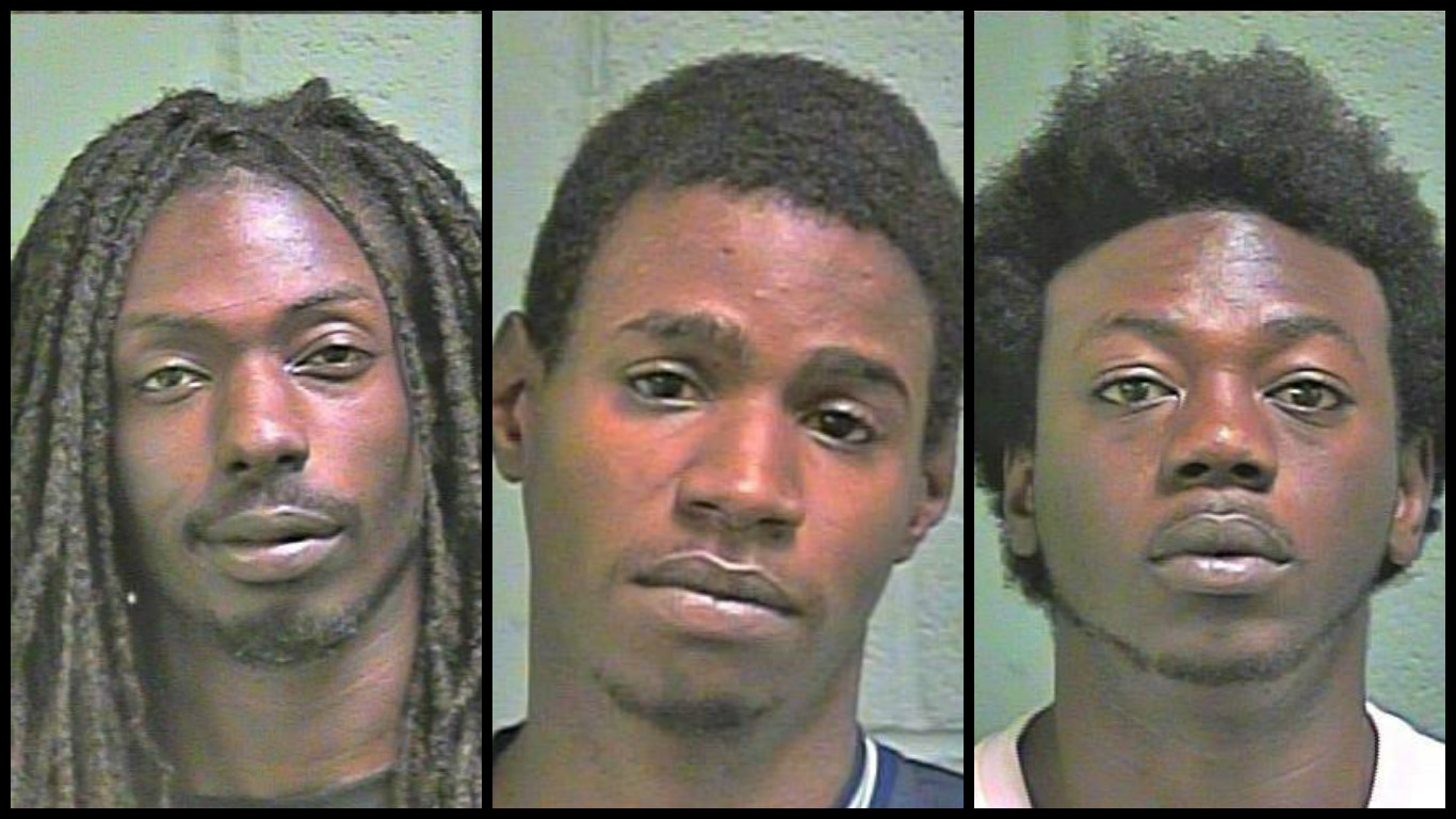 OKCPD arrested 3 men who attempted to break into a pawn shop near Penn and Hefner. (Oklahoma County Sheriff's Office)
