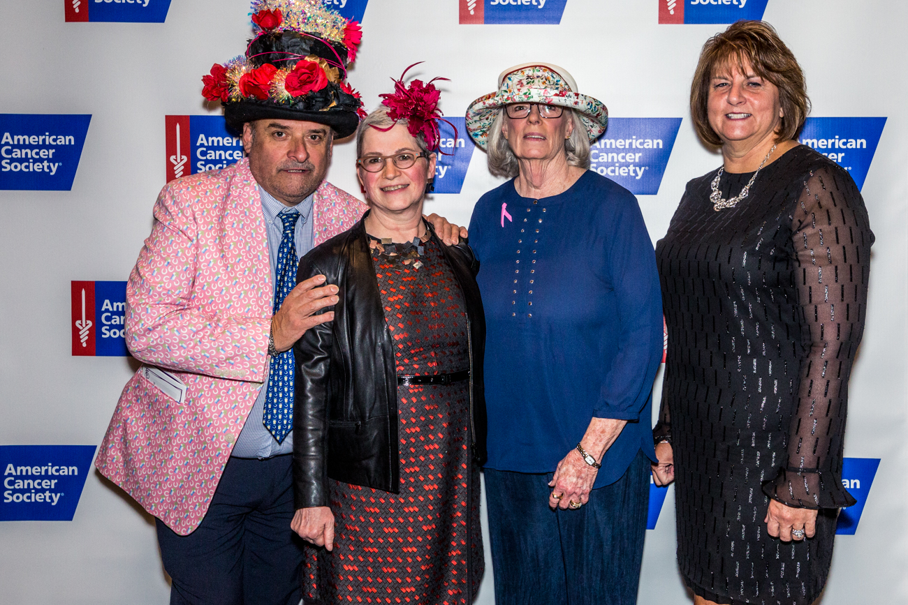 Honoree's Chef Jean-Robert de Cavel,{ }Dr. Elizabeth Shaughness, Sally Bruce, and Kathy Jennings / Image: Catherine Viox