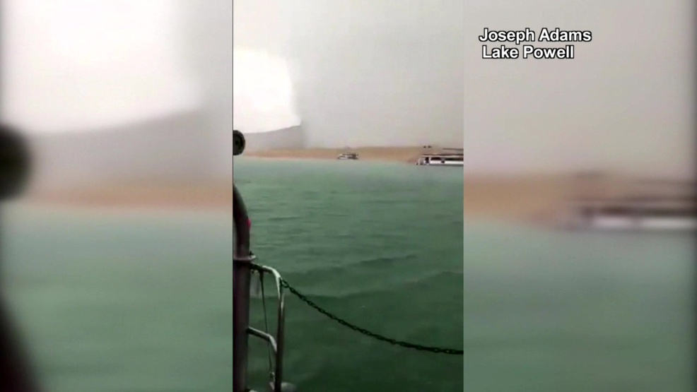 Watch: Thunderstorm's chaotic winds slam boaters on Arizona's Lake Powell