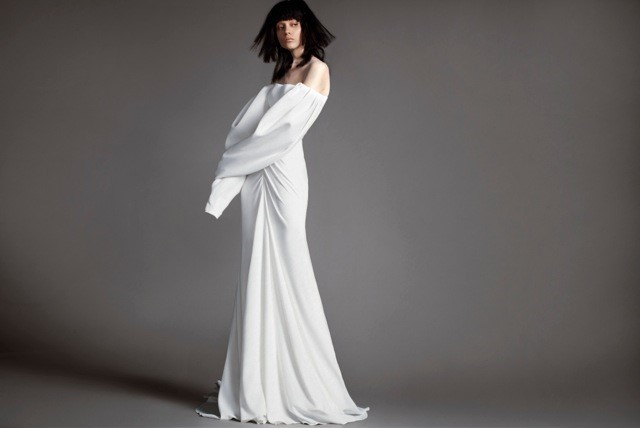 TREND #4: Off the Shoulder/Cold Shoulder (Vera Wang)