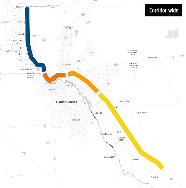 TxDOT wants to makeover I-10 from the New Mexico and Texas state line to Tornillo.