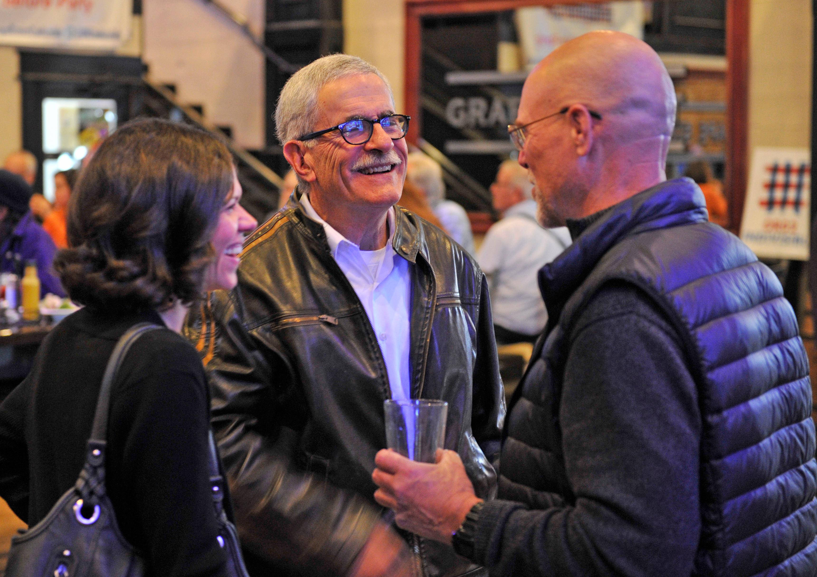 Former Jackson County Commissioner Jeff Golden attends an election night watch party at the Grape Street Bar and Grill in Medford. Jamie Lusch / Mail Tribune
