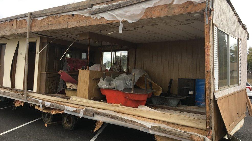 Mobile Home Left At Elementary School In Cornelius   Washington County  Sheriffu0027s Office Photo