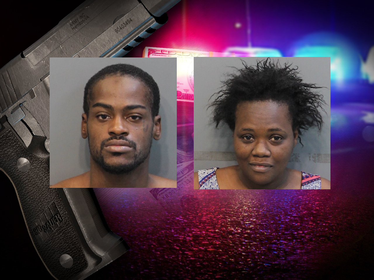 Christopher Ray Johnson and Lashanda Denise Cummings face multiple charges for aggravated robbery and theft over $1,000. They also face federal charges in a bank robbery. (Image: Hamilton County Sheriff's Office, MGN)