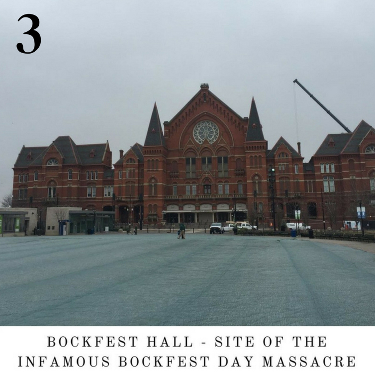 #3 - John David Back takes the same picture of Music Hall and posts it to his Instagram account with a nonsensical caption every time. He's been doing it for over a year. Head to the Travel section to see what we mean. / Image: IG user @johndavidback