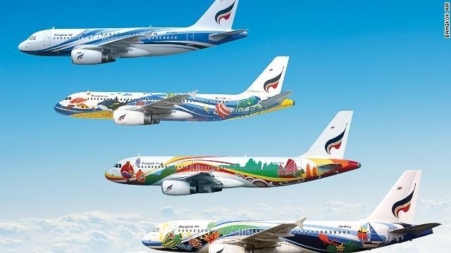 Bangkok Air has adorned its aircraft with everything from flowers and umbrellas to yet more cartoon characters