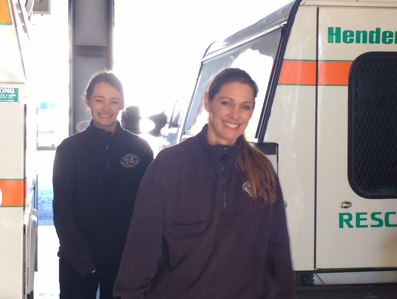 Alex Bauza and Zoe Brown are Henderson County Rescue Squad's first mother-daughter duo among a group of about 90 members. (Photo Credit: WLOS Staff).