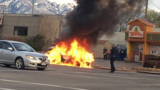 Cops search for driver who ran from fiery South Salt Lake crash