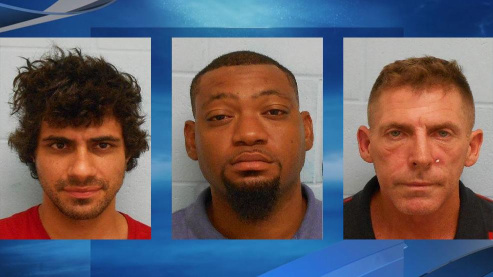 Police arrested three men accused of forgery on Tuesday, according to a news release from the McAllen Police Department. (Photos courtesy of the McAllen Police Department)