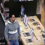 Police are searching for a suspect seen allegedly stealing Best Buy laptops