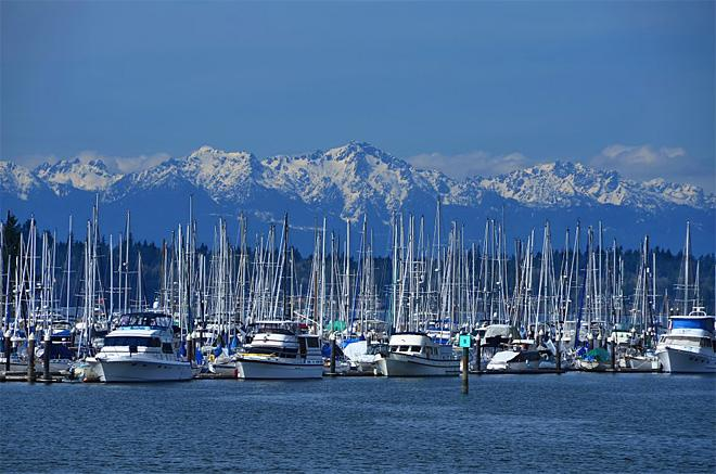 Budd Inlet and the Olympic Mountains, Olympia (Photo Courtesy: Kevin Russell, KR Backwoods Photography)