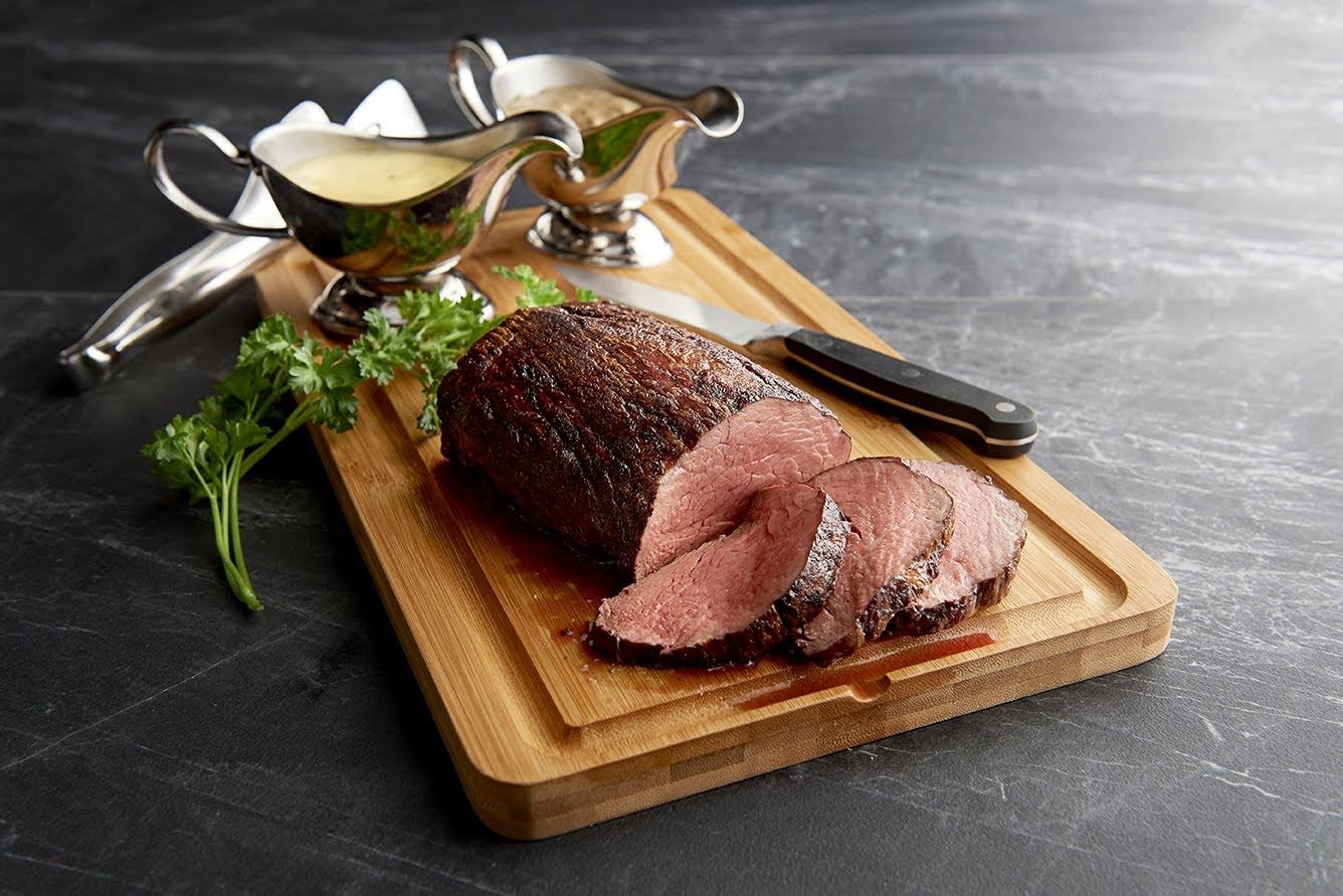 Mastro's will be open on Christmas from 3 p.m. to 9 p.m. and serving up a Chateaubriand. The center-cut beef tenderloin will be sliced and served with mouthwatering béarnaise and peppercorn sauces. { }(Image: Courtesy Mastro's)