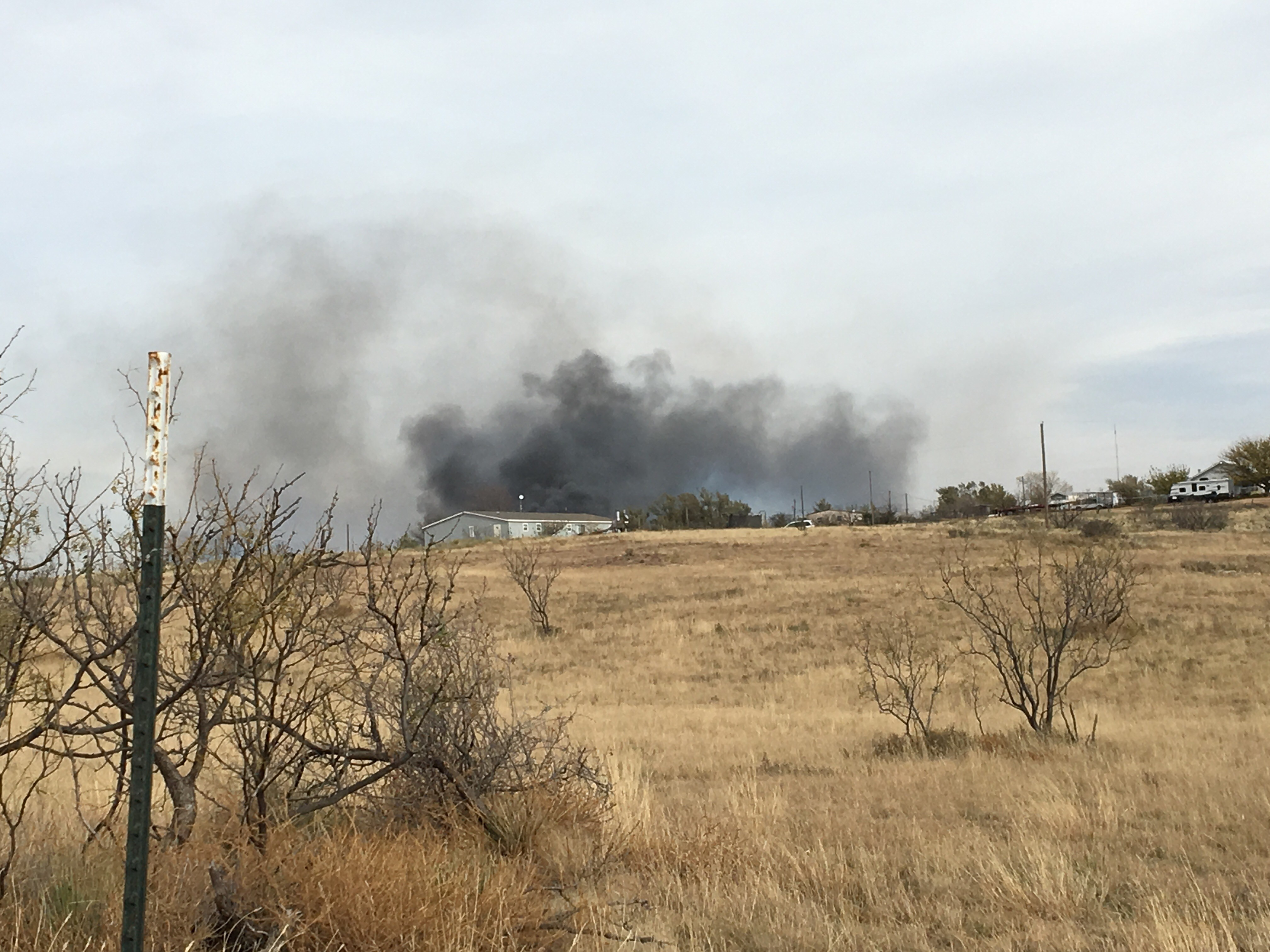 Several structures are being lost due to a fire that started as a grass fire in La Paloma and has spread to buildings. (ABC 7 Amarillo - Dakota Kessler)