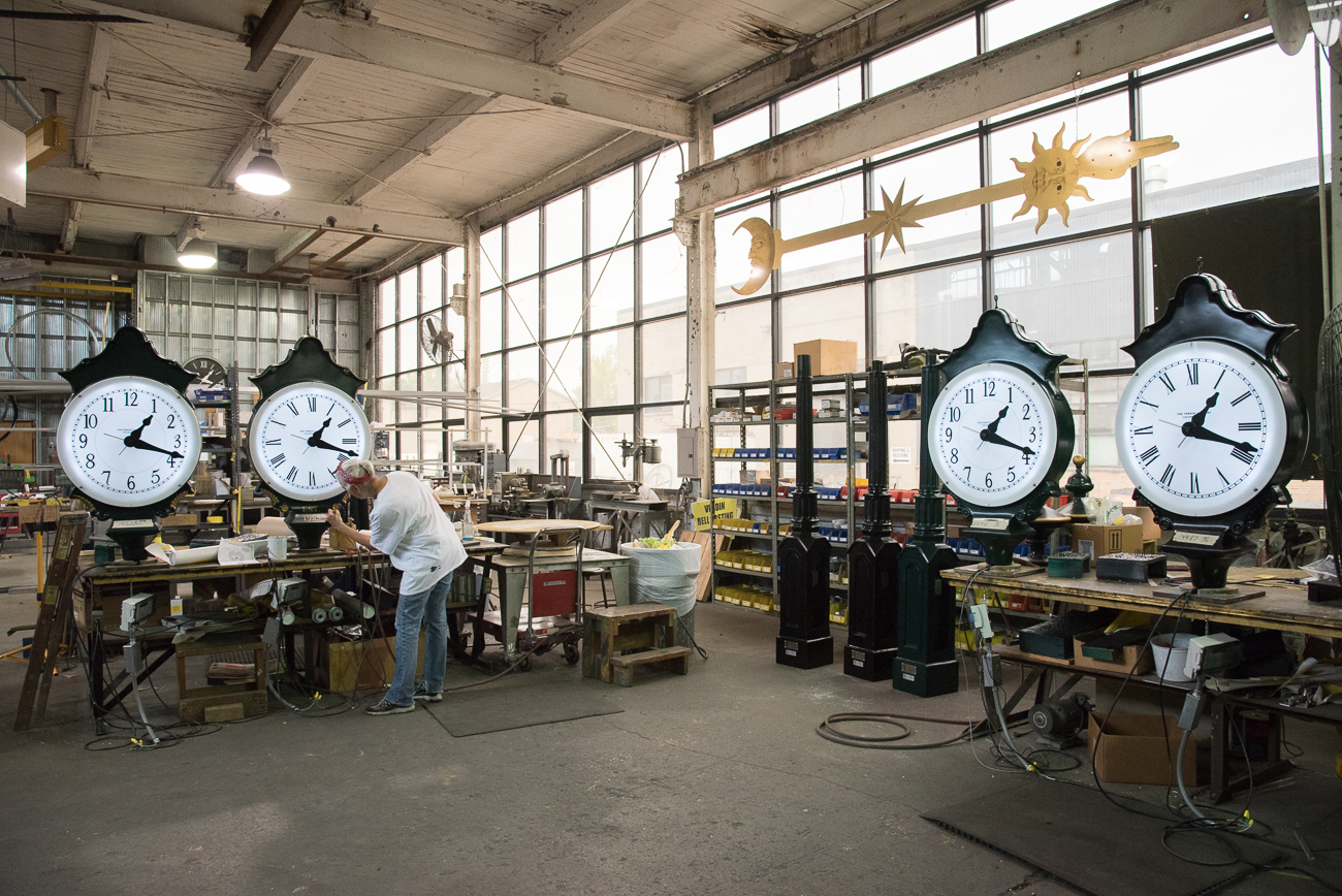 In addition to bells, Verdin specializes in clocks. / Image: Phil Armstrong, Cincinnati Refined // Published: 10.19.18