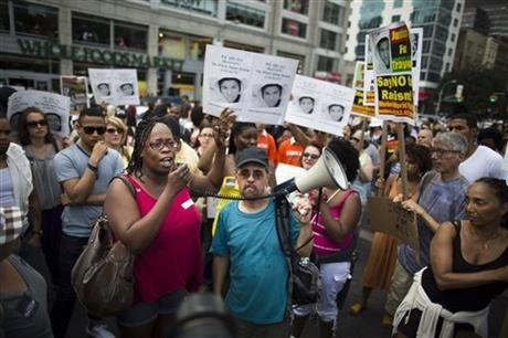 A rally popped up in New York City Sunday.