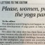 Women plan 'Yoga Pants Parade' in response to critical letter