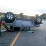 Family of five survives rollover on I-495