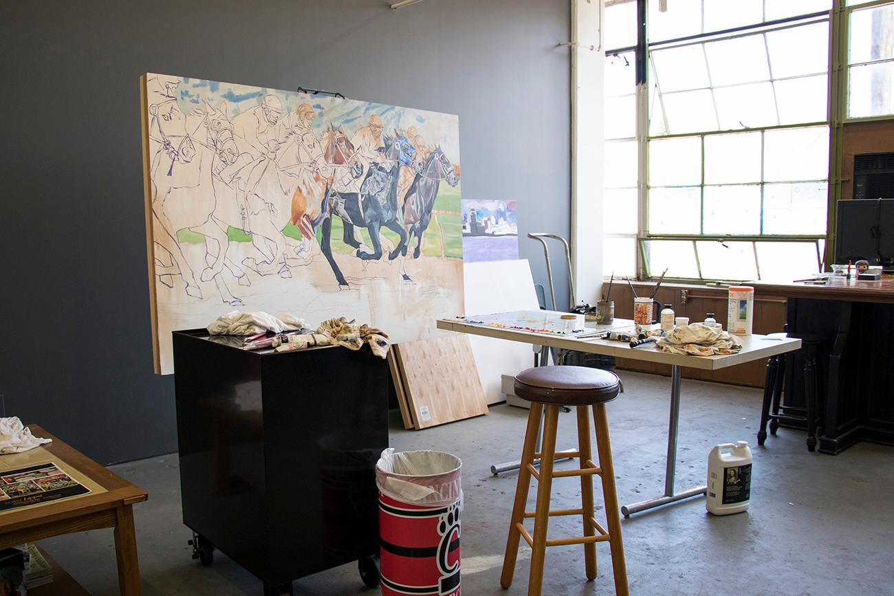 <p>Artist Tony Lipps' studio / Image: Allison McAdams // Published: 6.12.18</p>