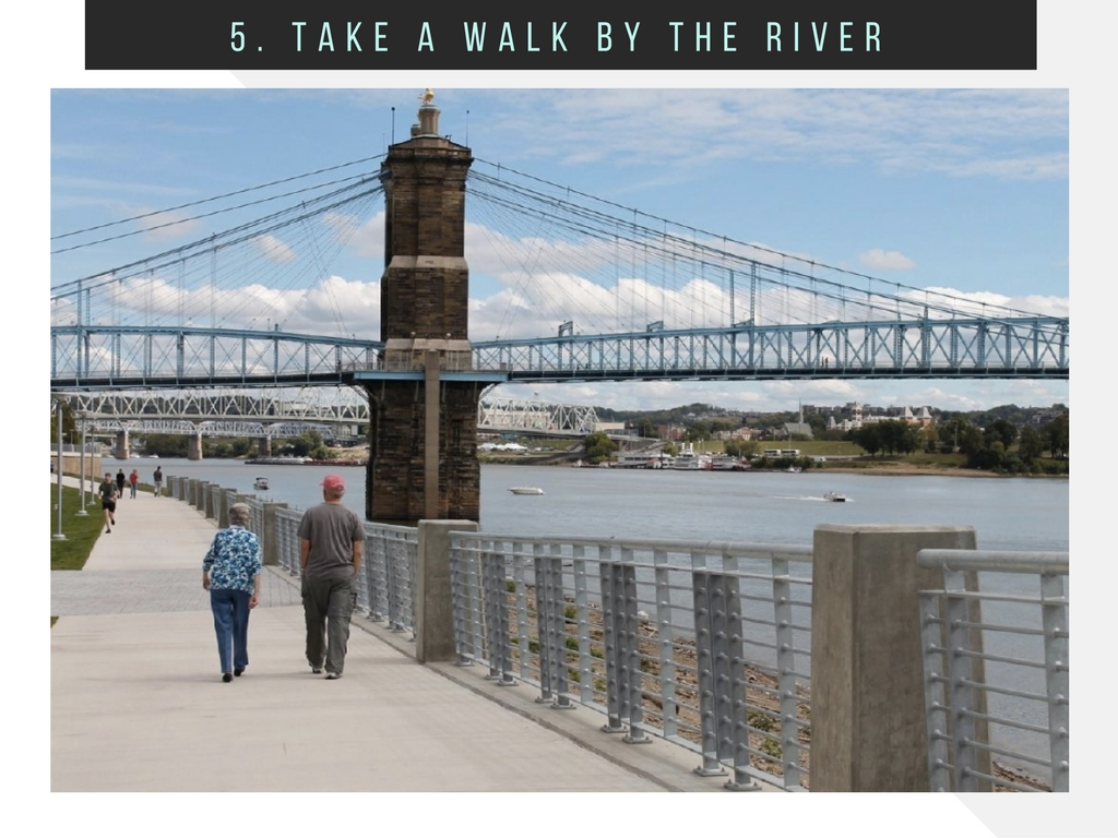 CINCY SUMMER BUCKET LIST ITEM #5: Take a walk by the river / EXAMPLE: Smale Park to Sawyer Point // IMAGE: Rose Brewington