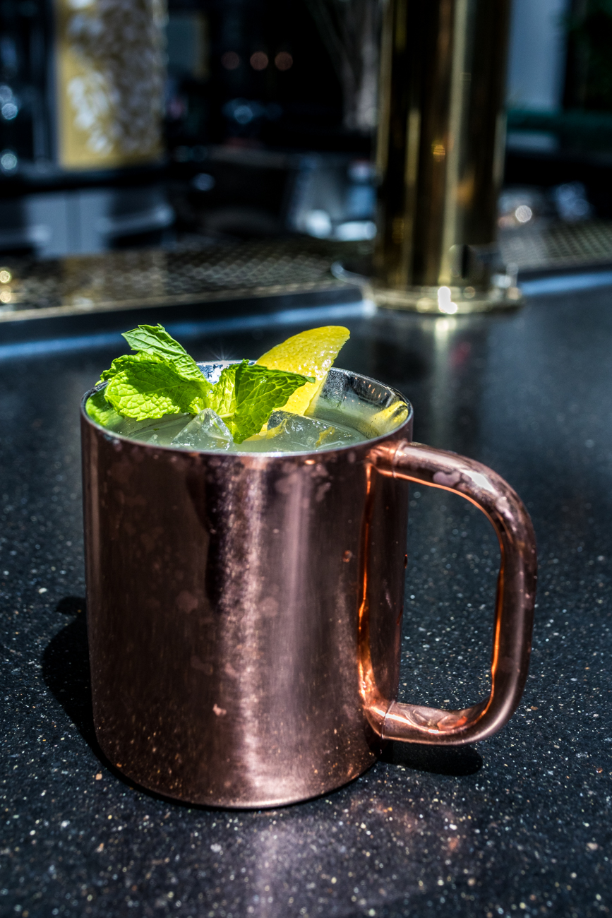 Lytle Mule: limoncello, Italicus, ginger beer, mint, and a lemon twist / Image: Catherine Viox // Published: 6.22.20