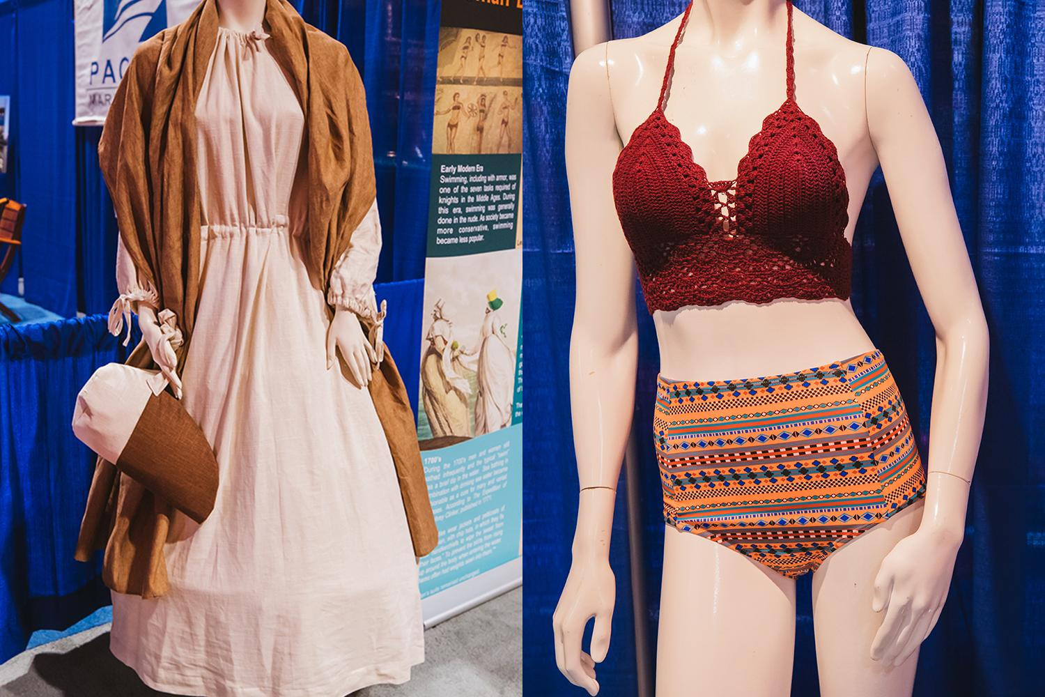 We've come a long way ladies! An exhibit called History of Bathing Suits is on display atThe Seattle Boat Show right now, which runs Jan. 24 through Feb. 1, 2020 at both CenturyLink Field Event Center and South Lake Union. Hours and tickets info can be found online. (Image: Sunita Martini / Seattle Refined)