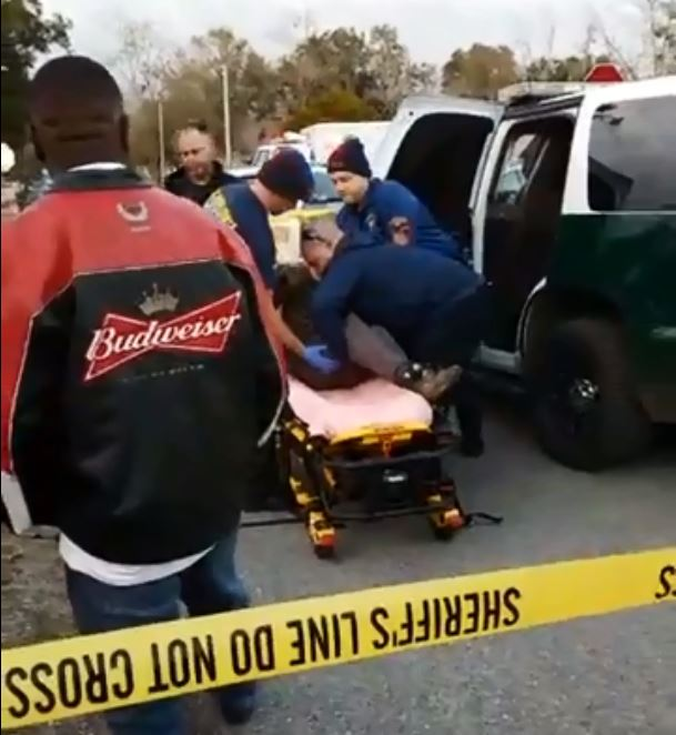Photo: Scene of a collision between an off-road motorcycle and ECSO vehicle on Calloway Street on Saturday, Dec. 30th 2017. Photo Courtesy: Alonzo McNeal