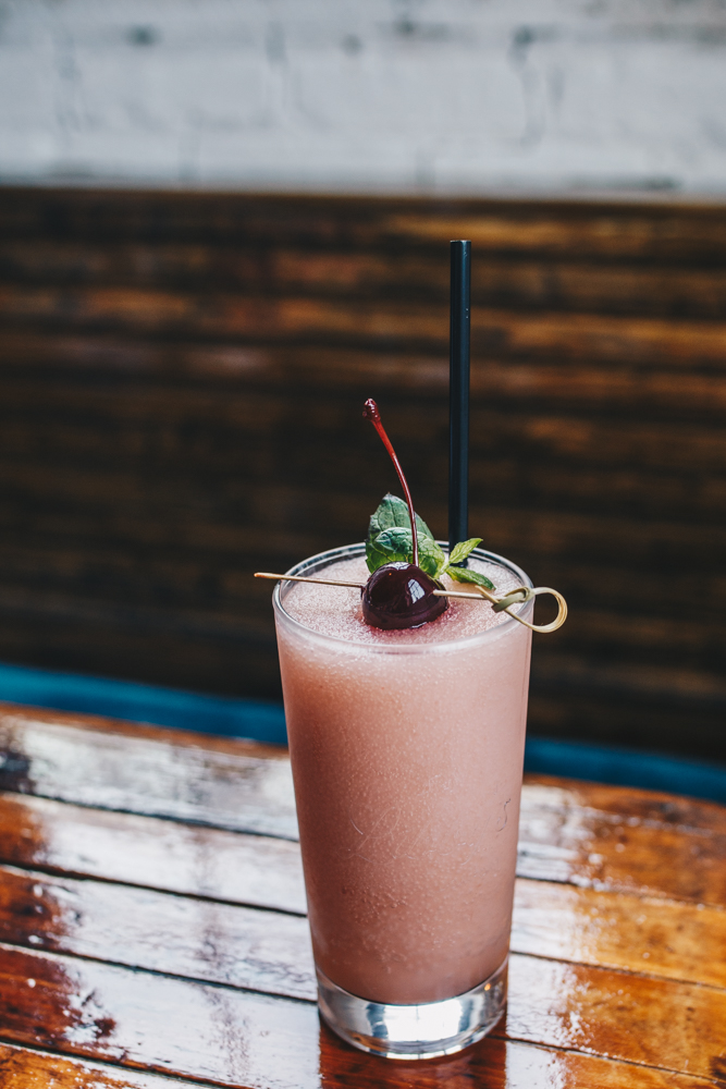 8th Street Frosé: frozen mix of rosé wine, simple syrup, and a touch of strawberry / Image: Catherine Viox // Published: 3.24.19