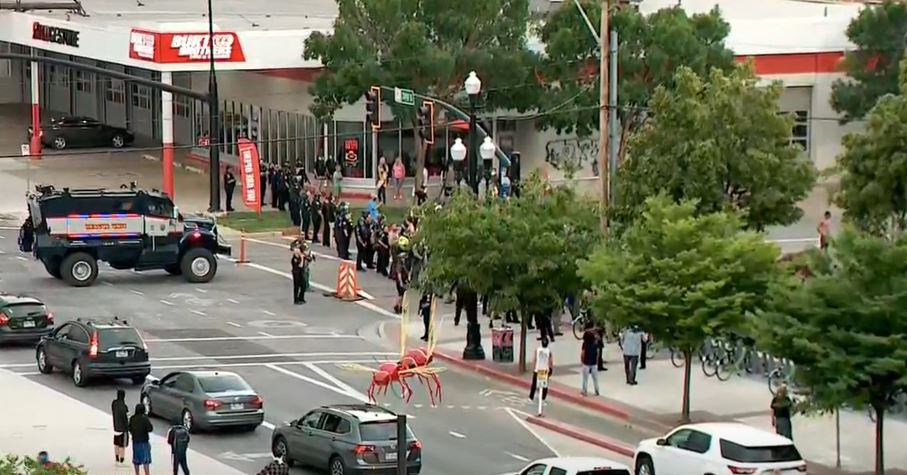 Utah National Guard activated by order of Gov. Gary Herbert in response to downtown riot (Photo: KUTV)