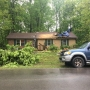 Tree smashes through Sumner Co. house during storm, family displaced