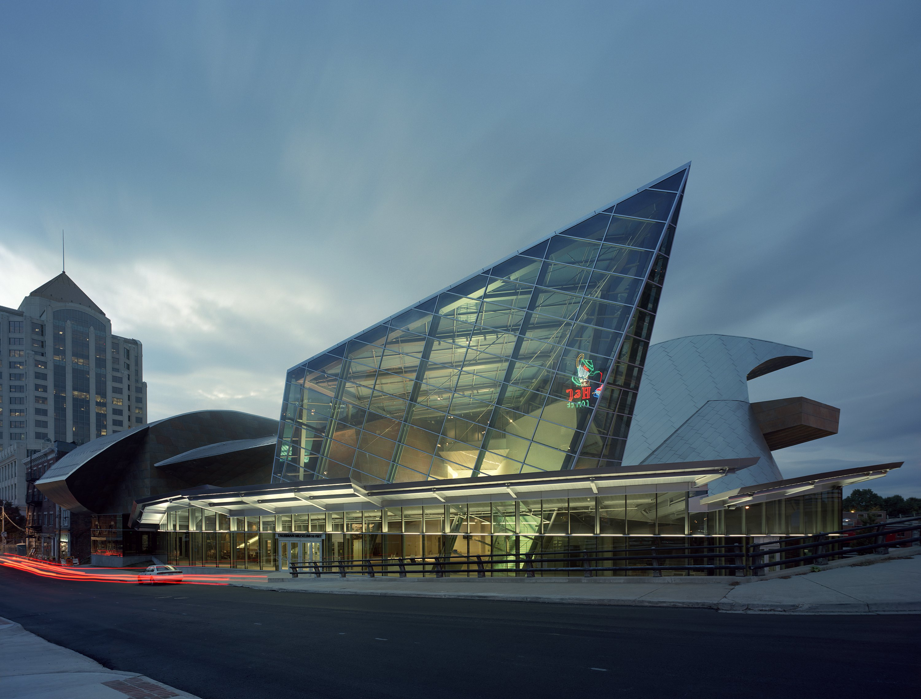 The Taubman Museum of Art has a world-class collection housed in an architecturally stunning building designed by Randall Stout. (Image: Courtesy the Taubman Museum of Art)