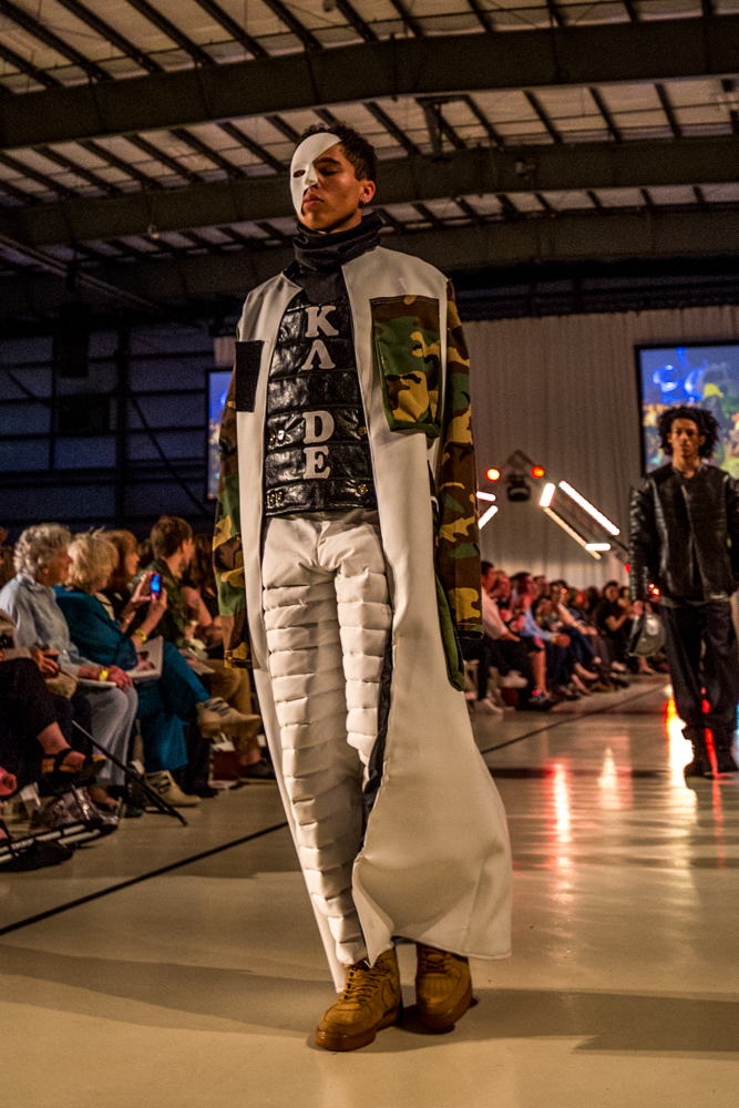 The show debuted more than 250 fashion pieces created by the Senior Fashion Design and Product Strategy students from the University of Cincinnati. Over 30 models strutted the ensembles down a 300-foot-long runway, accompanied by a fierce soundtrack performed by a live guest DJ. / Image: Catherine Viox // Published: 5.4.19