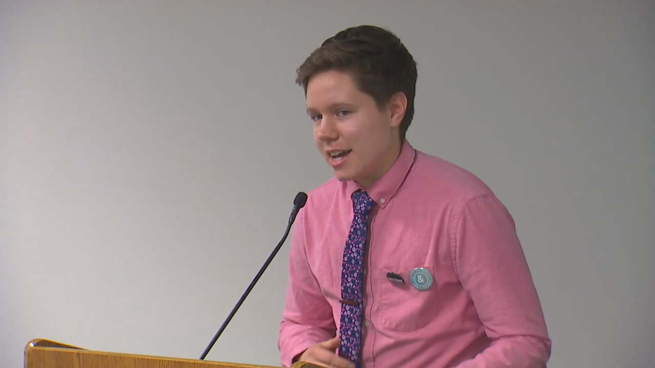 &quot;This is something as a kid growing up in the Midwest is a dream for me to see a state like Washington taking a stand to legitimize non-binary identifies,&quot; testified Sam Miller. (Photo: KOMO News)<p></p>