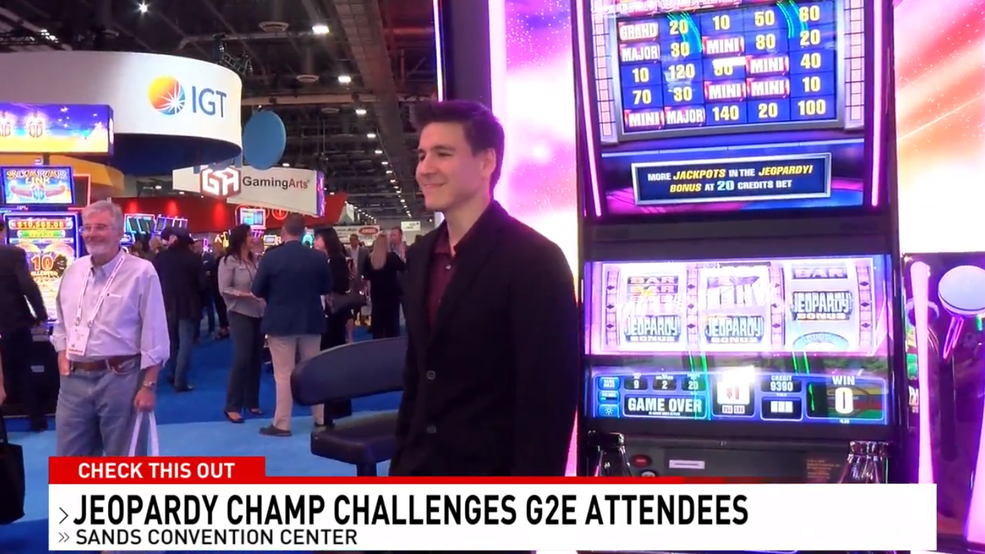 'Jeopardy!' star James Holzhauer competes against G2E attendees