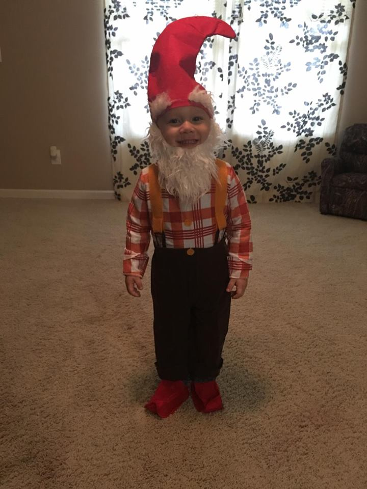 A very happy garden gnome. Submitted by Rhonda Gee