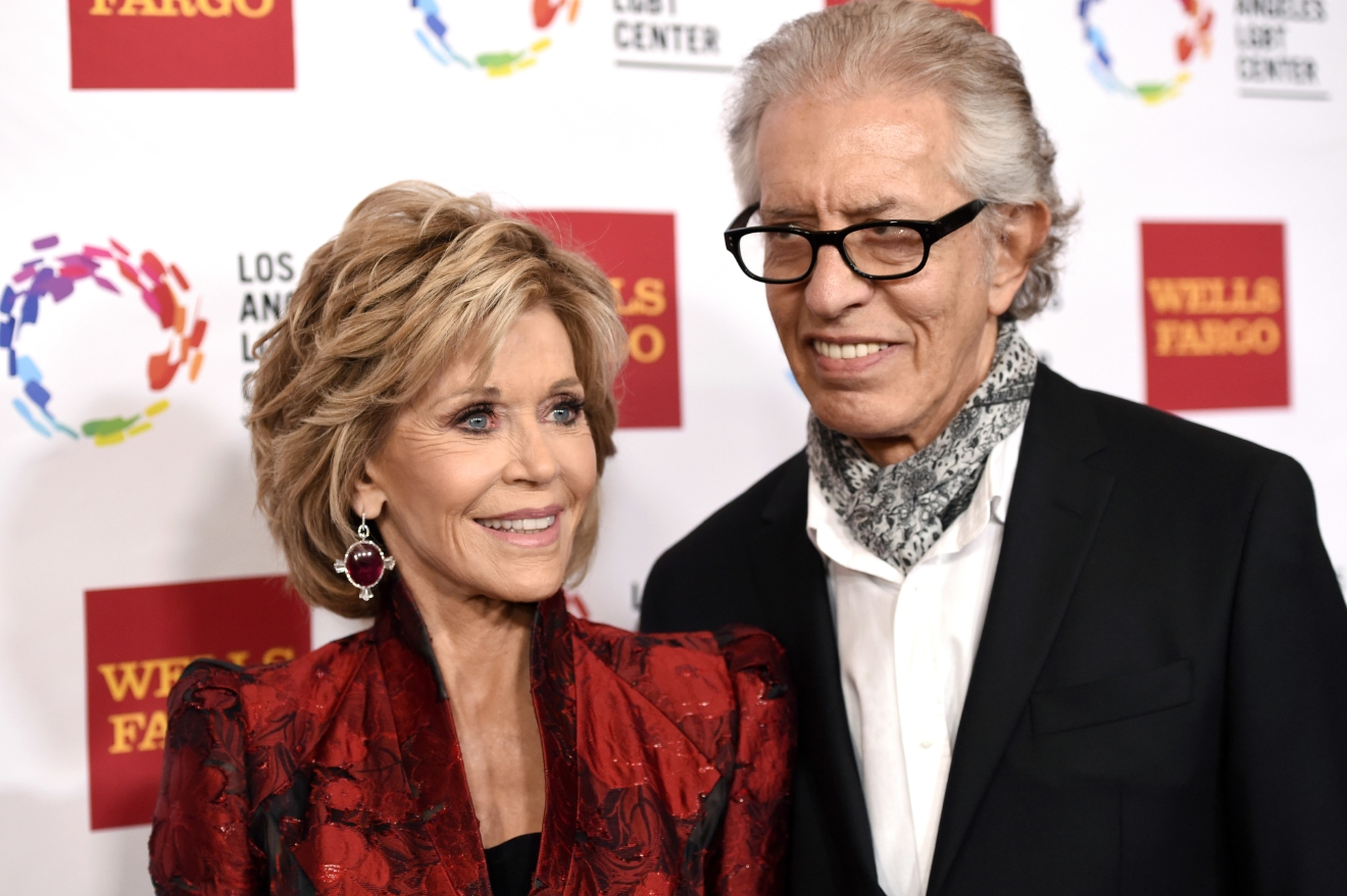 FILE - In this Nov. 7, 2015, file photo, Jane Fonda and Richard Perry pose together at the Los Angeles LGBT Center's 46th Anniversary Gala Vanguard Awards at the Hyatt Regency Century Plaza in Los Angeles. E! News reported on Jan. 24, 2017, that Perry said he and Fonda had ended their romantic relationship. (Photo by Chris Pizzello/Invision/AP, File)