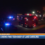 Body of teenage boy recovered from Lake Carolina Wednesday night